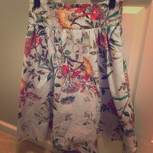 Zara circle skirt in beautiful print